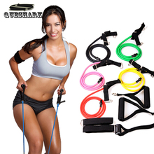 Multifunctional Pull Rope Elastic Rope Crossfit Training Equipment Rubber Band Belt Gym Equipment Yoga Pilates Resistance Rope(China)