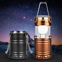 Bright Night Light Portable LED Camping Lantern Torch for Hiking Camping Blackouts - Lightweight - Collapsible, Battery Included(China)