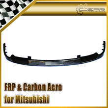 Car Styling FOR Mitsubishi Evolution EVO 1 2 3 Carbon Fiber Front Lip (Fits OEM Front Bumper)