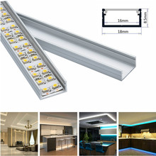 5set 3.3ft/1m/set U-Shape LED Strip Aluminum Channel Profile for 14mm 15mm 16mm PCB LED Bar Light Housing with Cover Fittings