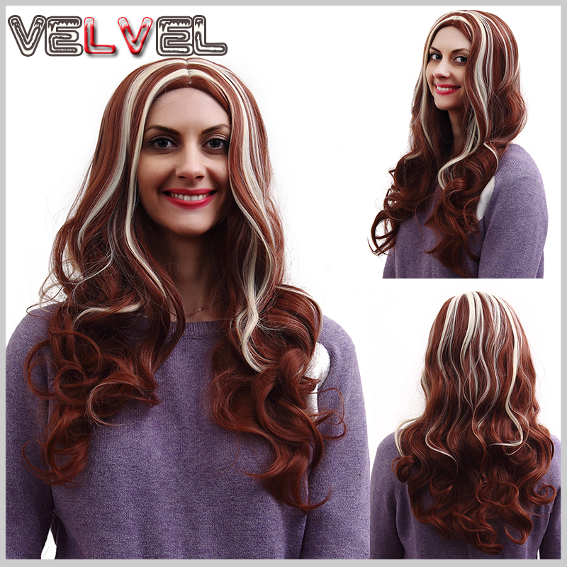 Fashion Synthetic Hair Wigs Long Curly Wig Drag Queen Heat Resistant Cheap Wigs Synthetic for Black Women  Full Wigs VELVEL<br><br>Aliexpress