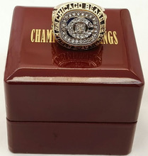 Factory direct sale 1985 Chicago Bears Super Bowl Zinc Alloy Sports Replica Championship Rings with wood boxes