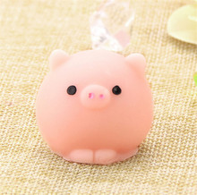 1 PC Pig Ball Squishy Slow Rising Kawaii Mini Mochi Bunny Phone Strap Squeeze Stretchy Cute Pendant Bread Cake Kids Toy Gift(China)