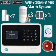 5 languages menu 94 wireless zones LCD gsm alarm system window open + movement detection(China)