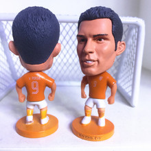 Soccerwe Fixed Stand 9 Robin Van Persie Doll Soccer Figure Holland 2016 Player Orange Kit(China)