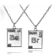 Breaking Bad Inspired Br Ba Double Pendant Necklace Meth Jessie Pinkman Walt Los Pollos Hermanos friendship Gift