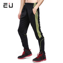 EU Running Pants Men Compression Quick Dry Football Soccer Training Pants with Pockets Men Fitness Bodybuilding Gym Sport Pants(China)