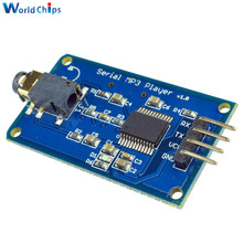 YX5300 UART TTL Serial Control MP3 Music Player Module Support MP3/WAV Micro SD/SDHC Card For Arduino/AVR/ARM/PIC 3.2-5.2V DC(China)