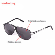 2017 New Bifocal Reading Glasses Unisex Diopter Glasses Male Reading Sunglasses Presbyopic Eyeglasses +1.0+1.5+2.0+2.5+3.0+3.5(China)