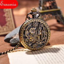 New Desinger Women Luxury Gift Pocket Watch Engraved Butterfly Necklace Chain Roma Dial Round Case Mechanical Watch