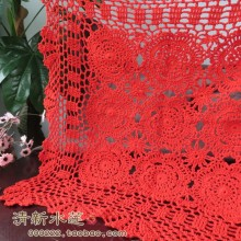 free shipping cotton crochet lace table cloth table cover towel for wedding decor gremial cutout decoration towel cloth for home