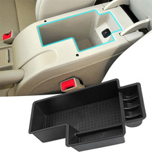 Central Secondary Storage Box Pallet Armrest Container Box Bin Phone Holder Organizer Tray For Skoda Superb 2009 - 2015