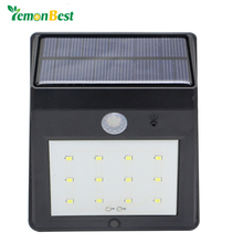 Waterproof Solar 12 LED Light Motion Sensor Wall Lamp Auto ON/OFF for Outdoor Garden Fence Yard Roof Lawn lamps Landscape lights