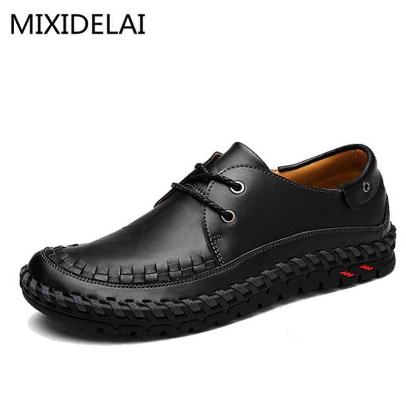Mens Leather Loafers New 2017 Casual Flat Shoes Men Driving Moccasins Fashion Slip On Mens Working Flats Sapatos<br>