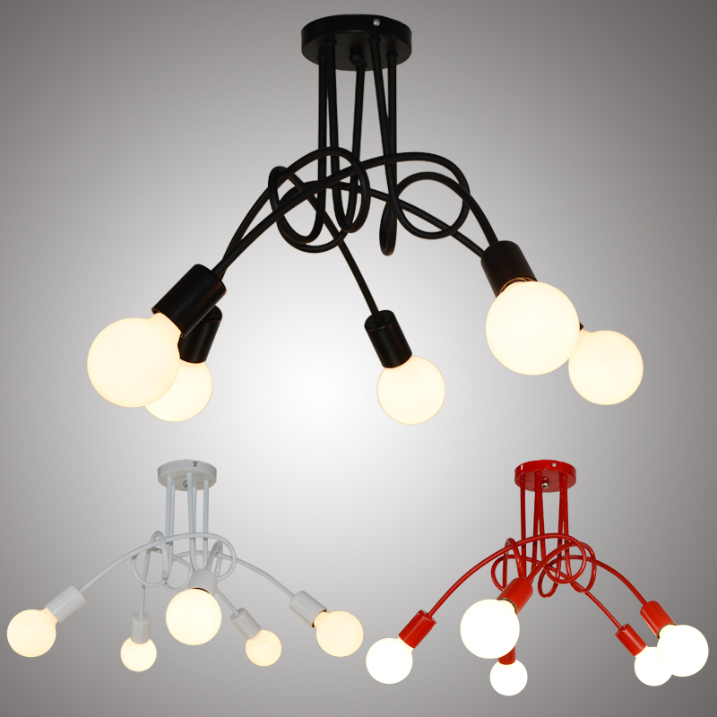 Vintage Ceiling Lights Ceiling Lighting Black Creative Personality Ceiling Lamps Fixtures Living Room Luminaria Lustre<br>