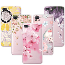 For Asus Zenfone 4 Max ZC520KL 3D Relief Phone Case Floral Cartoon Peach Lace Soft TPU Back Covers For Zenfone 4 Max ZC520KL(China)