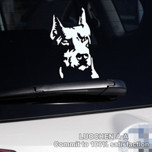 Car Stickers Dog Hound Doberman Pinscher Decals Auto Tuning Waterproof Symmetric 16*10cm & 23*14cm Free Shipping(China)