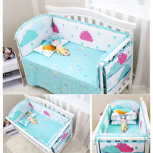 Buy 6pcs Animal Print 100% Cotton Baby Bedding Bumpers Cactus Bed Around Cartoon Removable Boys Girls Baby Bed Crib Bumper for $43.30 in AliExpress store