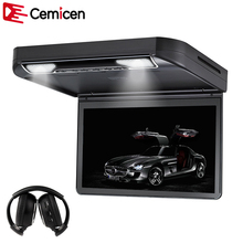 Cemicen 13.3 Inch Car Roof mount DVD Player Flip down 1080P Video HD Digital TFT Wide Screen USB/SD/HDMI/MP5/IR FM Transmitter(China)