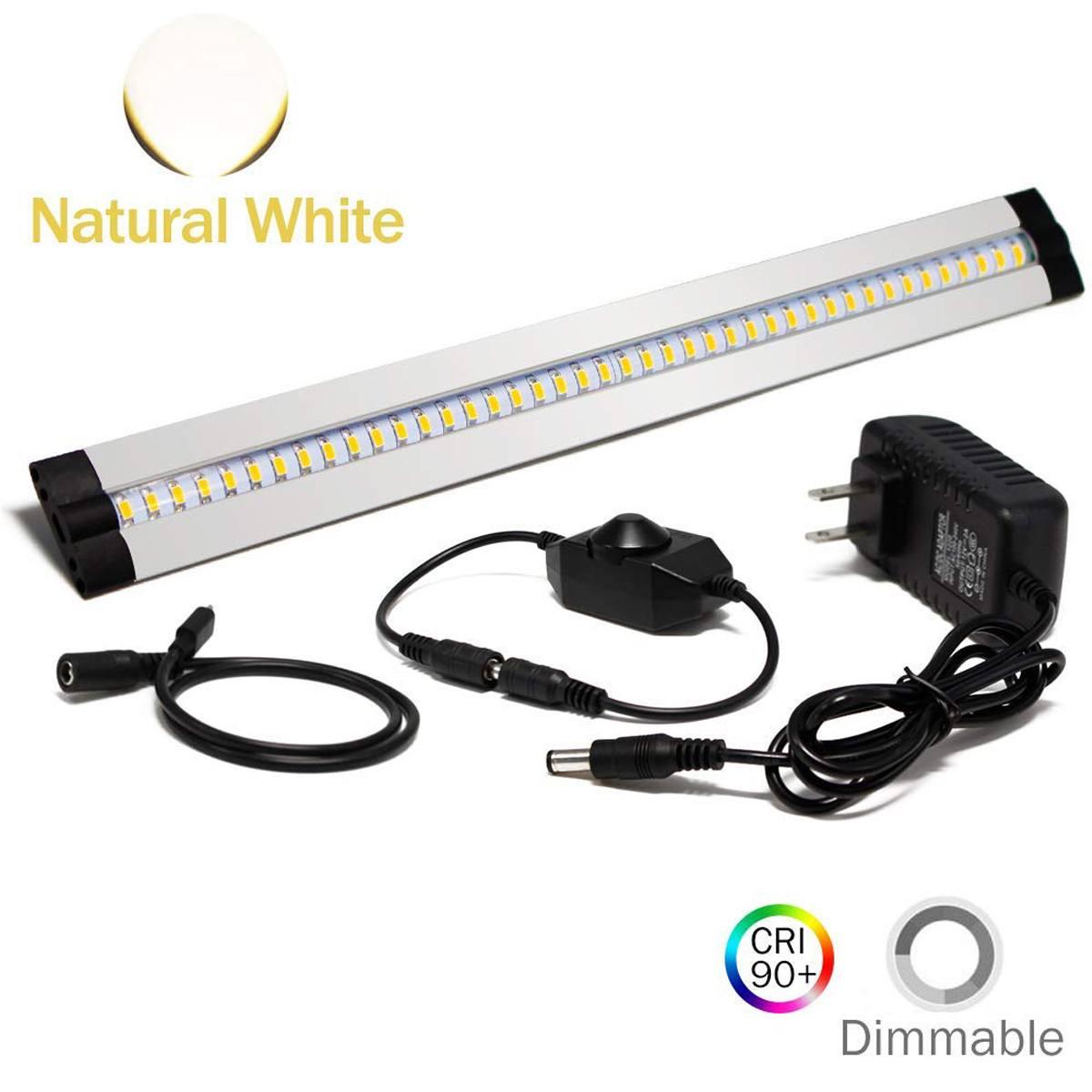 30CM LED Under Cabinet Strip Light Bar Lamp CRI90 Warm Dimmable Waterproof Table Lamp desk light For Reading Study Office Light 5