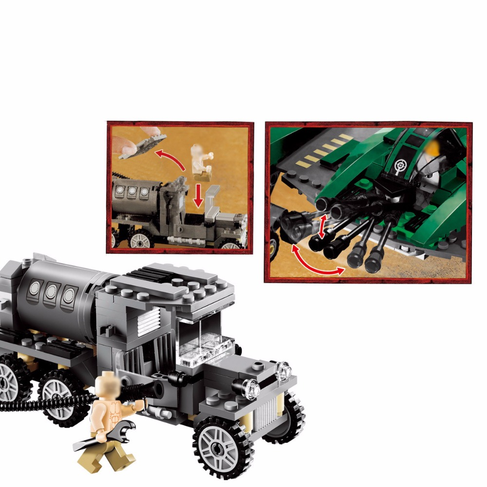 Lepin 31002 401pcs Indiana Jones Fighter on the Flying Wing Plane Model Building Block Compatible 7683 Toys for Children  Gifts<br>