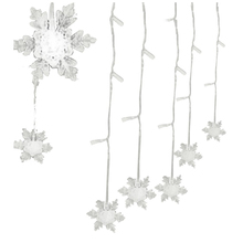 8 Modes 2M*1M 104 PCS LED Snowflake Shaped LED String Fairy Light Decorative Curtain Lighting For Garden Party Wedding Festiva