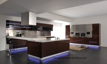 Acrylic high gloss/lacquer Kitchen cabinet(LH-HA010)