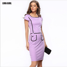 Ebay Hot On Sale 2017 New Europe Fashion Summer Office Sexy Bodycon Pencil Summer Dress Women Casual Dresses Plus size Vestidos