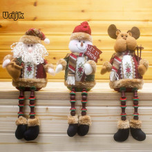 Christmas Santa Claus Elk Snowman Toy Doll Christmas Decoration for Home Tree Ornaments Kids Christmas Gift New Year Decorations