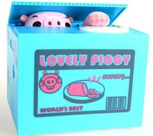 Automated Lovely Naughty Pig Steal Coin Piggy Bank Money Box Coin Bank For Christmas Gift Birthday Gift