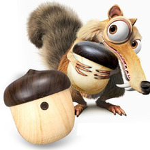 Fashion Ultra Mini wooden Nut speaker altavoz bluetooth Squirrel wood portable loudspeaker caixa de som for phone CUTE CARTOON