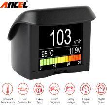Ancel A202 Car Onboard Computer Fuel Consumption OBD2 Speed Gauge Voltage Water Temperature Meter Digital Display Car Thermomete(China)