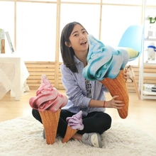 27CM cute design 3D sweet ice cream pillow cushion plush toy car waist support cushion soft stuffed doll toys creative pillow