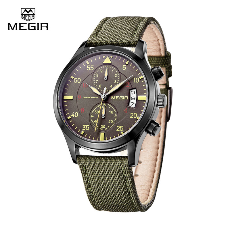 Megir Brand Clock Watchs Men Quartz Wrist Watch Top Luxury Famous Style Casual Sport Wristwatch for Mens Male reloj hombre<br><br>Aliexpress