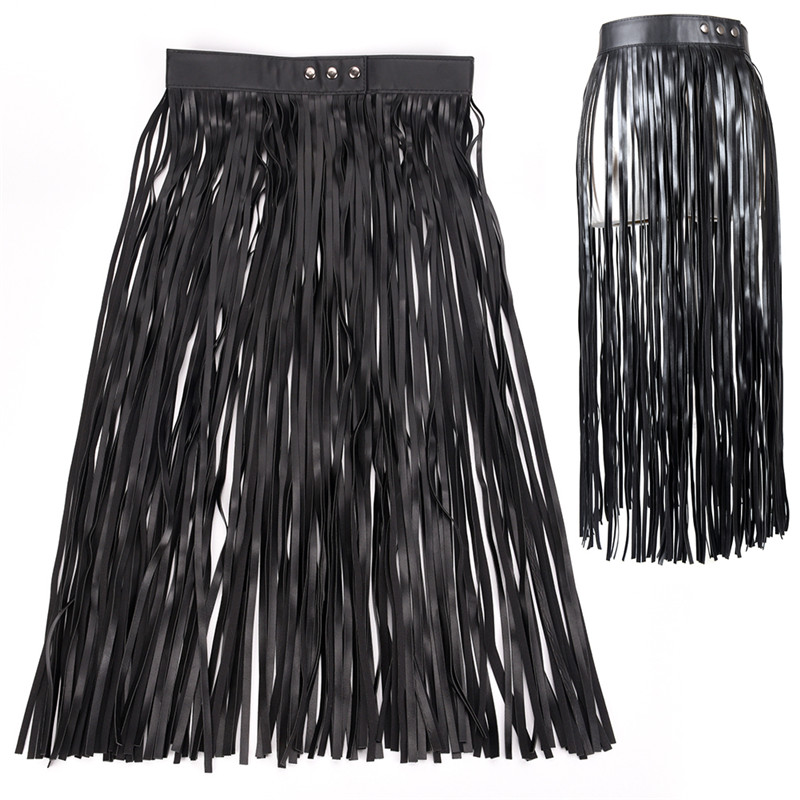 Tassel Leather Ladies Belts Fashion Hippie Boho Fringe All Matching Cool High Waist Long Wide Belts For Women Girls 83cm
