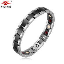 Moocare Men Bracelet Couples Ceramic Adjustable Stainless-Steel Magnetic Women Gold Female