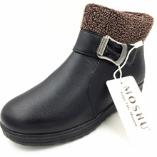Women Winter Boots Warm Leather 눈 Ankle Boots 암 Shoes 호주 봉 제 깔 방수 버클 끈 Botas 보낸 Mujer(China)
