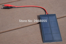 Solarparts 5pcs 0.8W/2v/400mA mini solar panel with Alligator clips DIY solar modules use for toys led lights educational kits