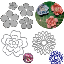 Flowers Metal Cutting Dies Stencils Sizzix Big Shot For DIY Embossing Card Scrapbooking Album Decoration Template Folder Suit
