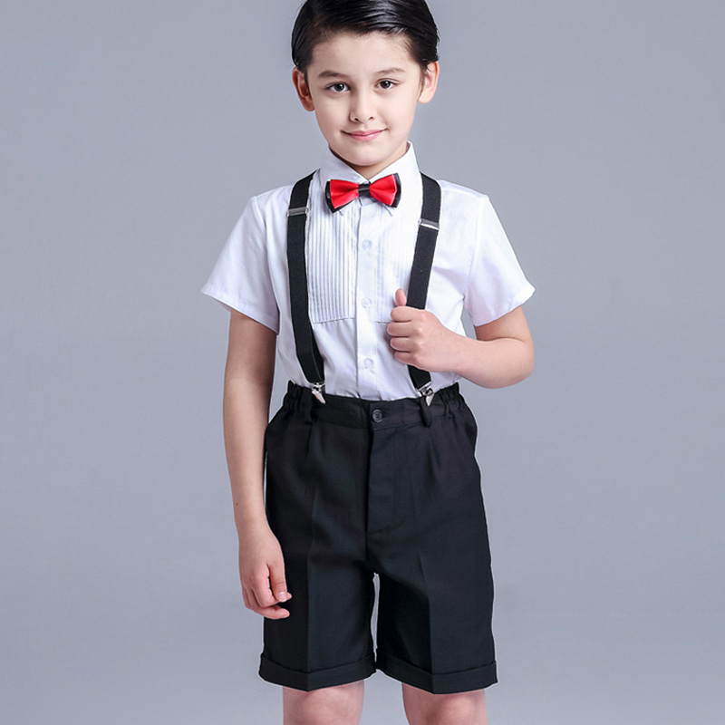 4 Pcs/Set Fashion baby Boy Wedding clothes  3-14 Years Boys Vest Shirt Pants Formal Party Suit color red Childre  Clothing Set  <br>