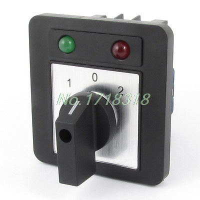 Ui 660V Ith 20A Locking 3 Position 12 Terminals Rotary Cam Changeover Switch<br>