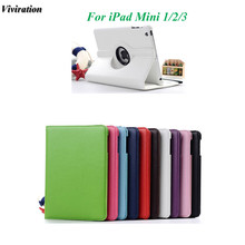 Viviration Tablet Cover Case For 7.9 Inch Apple iPad mini 1 2 3 Good Use 360 Degree Rotating Stand Case Wholesale Fashion Case(China)