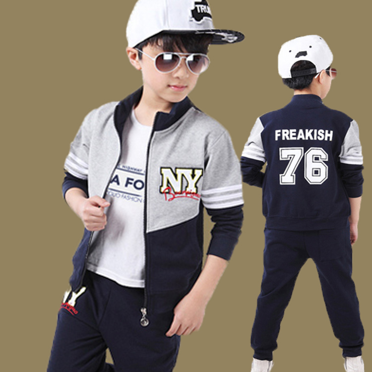 Free shipping new arrival spring/autumn boy clothing set two pieces jacket+pants boy sports suit<br><br>Aliexpress