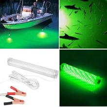 20 W 104 LED Green Fishing Lamp Indicator Flash Bait fish Lights Squid Hook with 5M Wire Cable