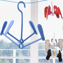 4 clips 21*23cm Plastic Shoe Clothes Socks Shorts Underwear Drying Rack Hanger New Practical design Random Deliver Home Decor@YL(China)