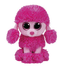 2016 New Ty Beanie Boos Plush Toy Patsy Pink Poodle Dog Sruffed Animal Doll Soft  Kids Toy Gift  Birthday Present Hot Sale