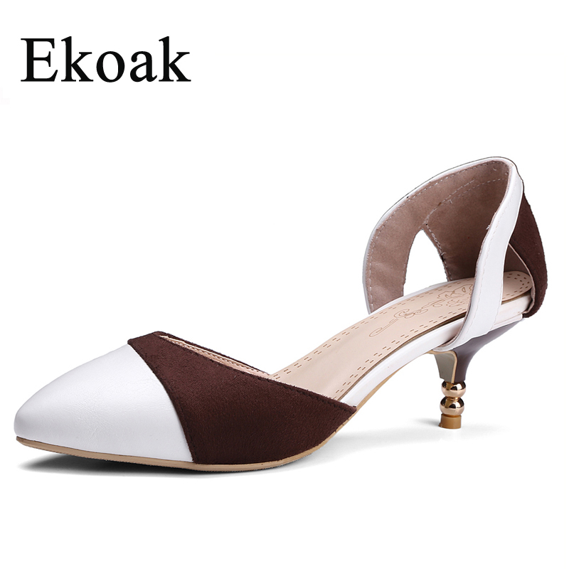 Ekoak Size 35-43 New 2017 Fashion Women Summer Shoes Mixed Colors Women Sandals Sexy High Heels Shoes Woman Party Dress Shoes<br><br>Aliexpress