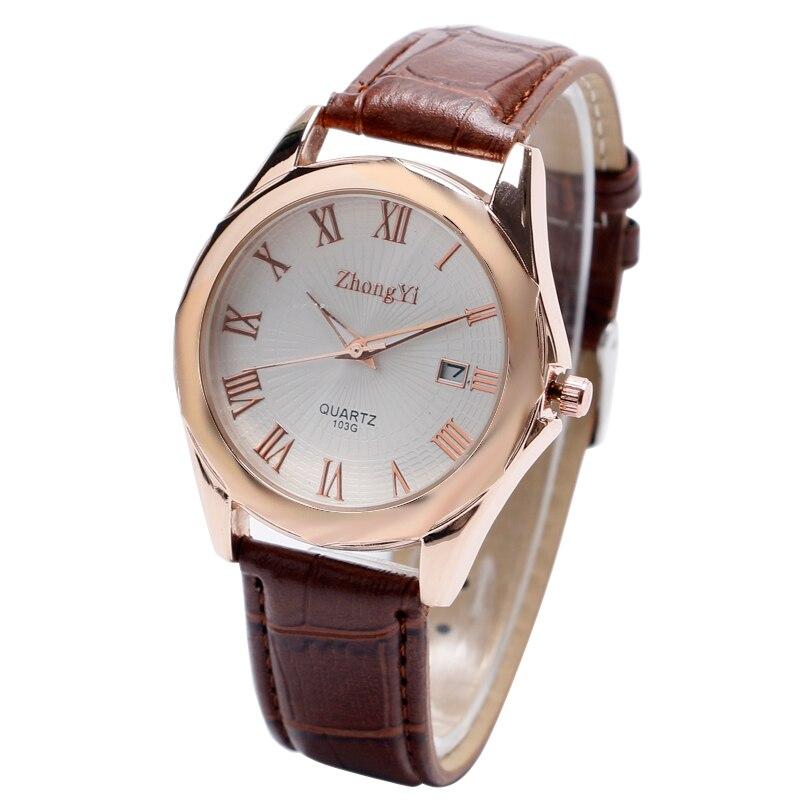Montre Homme New Luxury Mens Watches Super Soft Leather Clock Men Date Day Calendar Quartz Watch Wrist Watches For Men Women<br><br>Aliexpress