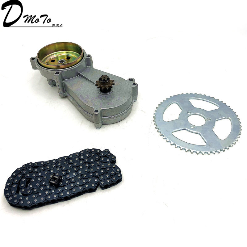 47cc 49cc pocket bike liya  gearbox transmission gear box mini moto atv with T8F chain and Chain plate 2 stroke engine part