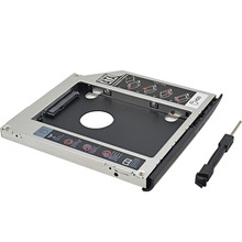 Aluminum Second HDD Caddy 9.5MM SATA III LED Indicator SSD Case Hard Disk Enclosure for HP EliteBook 2530p 2540p Optical Bay